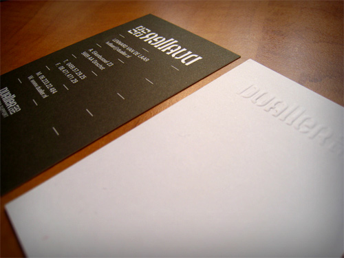 dualler 100 Refreshing Black & White Business Cards