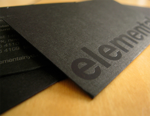 element 100 Refreshing Black & White Business Cards