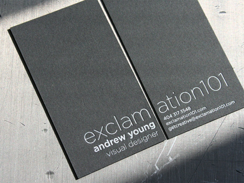 exclamation 100 Refreshing Black & White Business Cards
