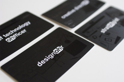 fangohr 100 Refreshing Black & White Business Cards