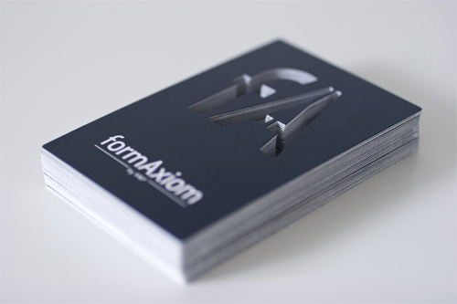 form axiom 100 Refreshing Black & White Business Cards