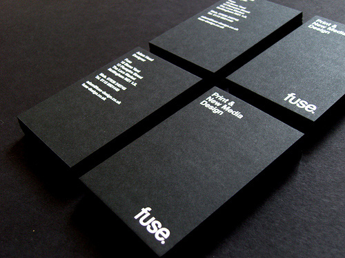 fuse 100 Refreshing Black & White Business Cards