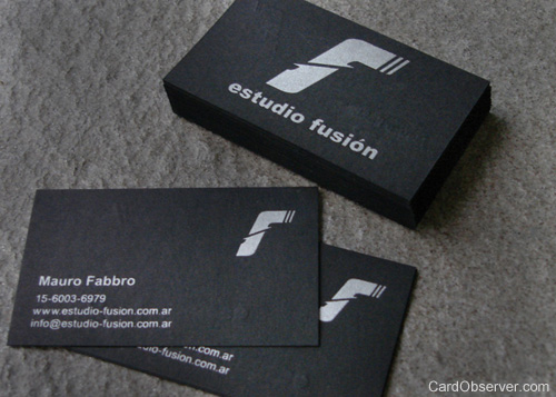 fusion 100 Refreshing Black & White Business Cards
