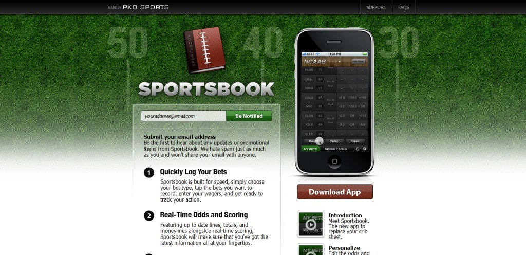 getsportsbookapp 1024x496 100 Wonderfully Designed iPhone App Websites