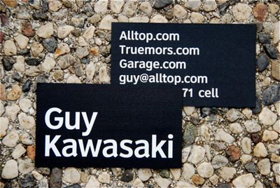 guy kawasaki 100 Refreshing Black & White Business Cards