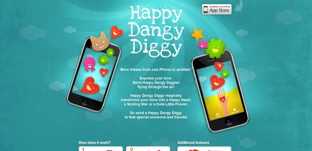 happydangydiggy 1024x496 100 Wonderfully Designed iPhone App Websites
