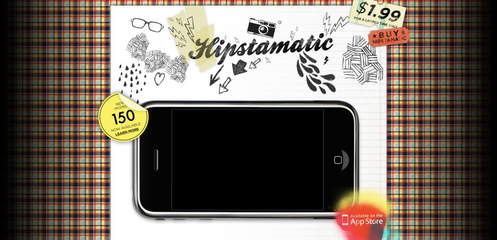 hipstamaticapp 1024x496 100 Wonderfully Designed iPhone App Websites