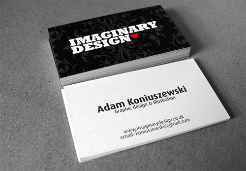 imaginary 100 Refreshing Black & White Business Cards