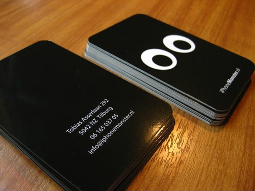 iphone 100 Refreshing Black & White Business Cards