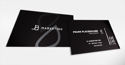 ja cards1 mqeumr 100 Refreshing Black & White Business Cards