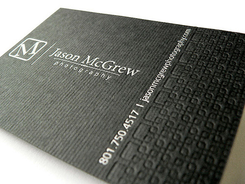 jason mcgrew 100 Refreshing Black & White Business Cards