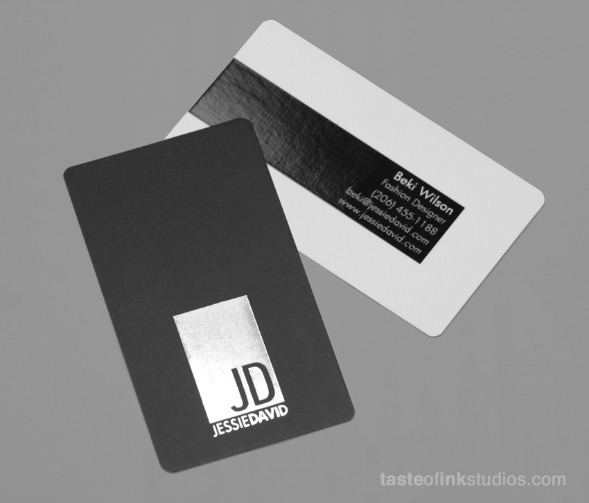 jessie david big 100 Refreshing Black & White Business Cards