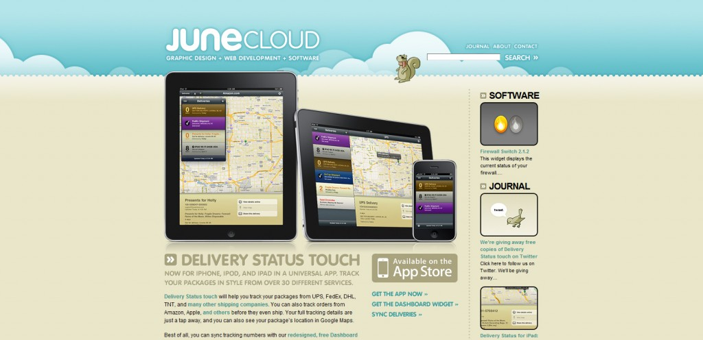 junecloud 1024x496 100 Wonderfully Designed iPhone App Websites