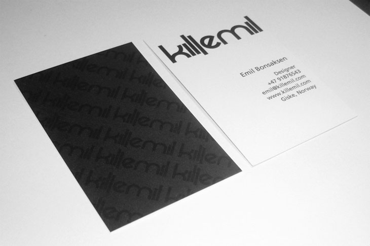 killemil 100 Refreshing Black & White Business Cards