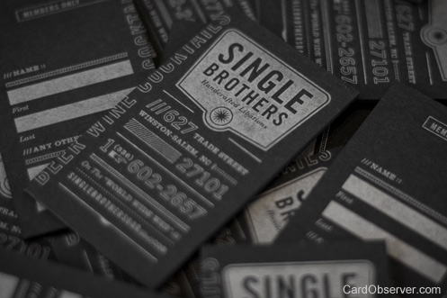 looking 100 Refreshing Black & White Business Cards