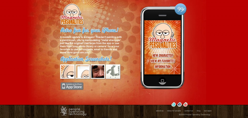 magneticpeeps 1024x491 100 Wonderfully Designed iPhone App Websites