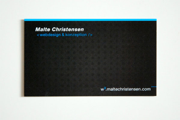 malte3 100 Refreshing Black & White Business Cards