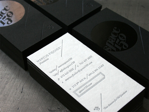 marcus 100 Refreshing Black & White Business Cards