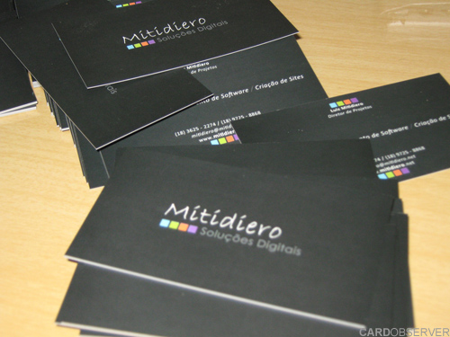 mitidiero 100 Refreshing Black & White Business Cards