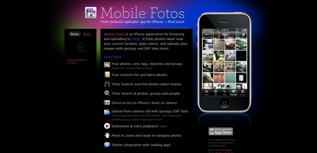 mobilefotosapp 1024x496 100 Wonderfully Designed iPhone App Websites