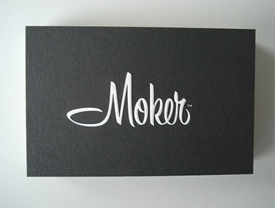 moker21 100 Refreshing Black & White Business Cards