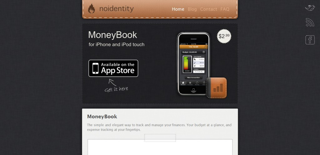 moneybookapp 1024x496 100 Wonderfully Designed iPhone App Websites