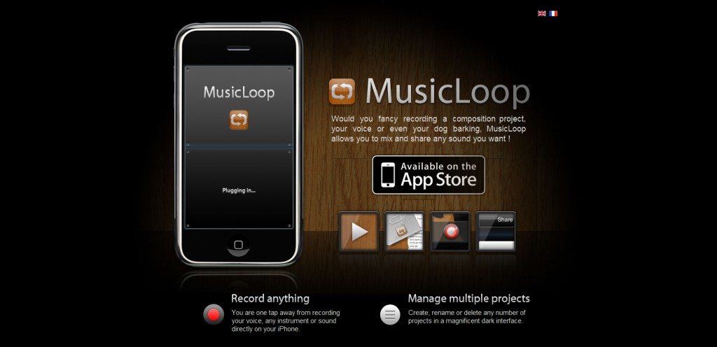 musicloopapp 1024x496 100 Wonderfully Designed iPhone App Websites