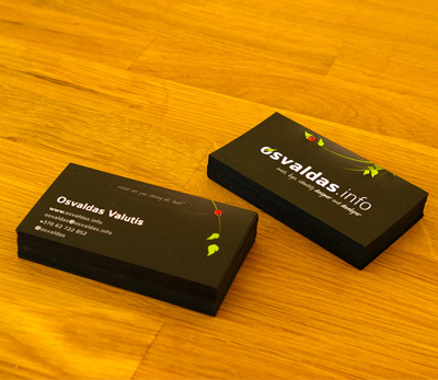 osvaldas1 100 Refreshing Black & White Business Cards
