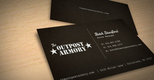 outpost armory ixenbd 100 Refreshing Black & White Business Cards