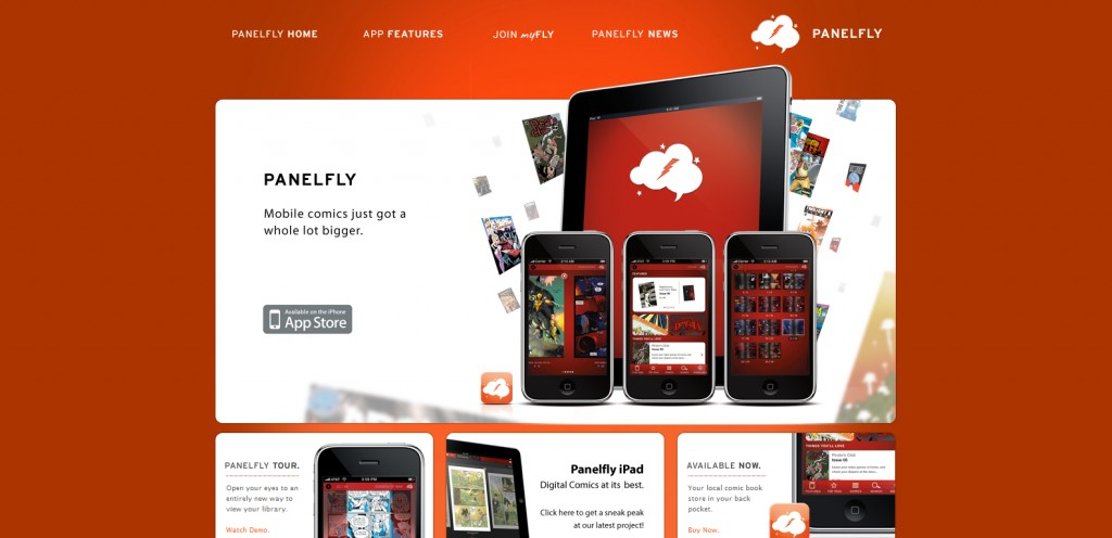panelfly 1024x496 100 Wonderfully Designed iPhone App Websites