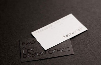 pao1 100 Refreshing Black & White Business Cards