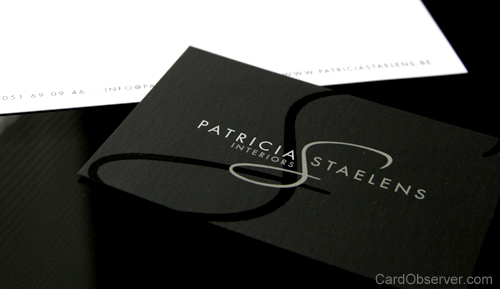 patricia staelens 100 Refreshing Black & White Business Cards