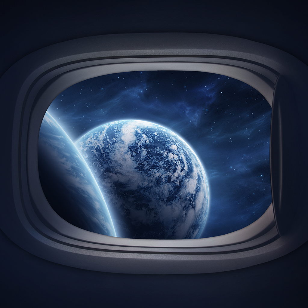 plane earth 40 Ravishing Scenery iPad Wallpapers