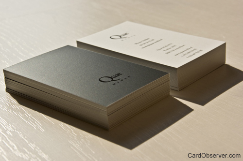 quae 100 Refreshing Black & White Business Cards