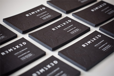 r3m1x3d 100 Refreshing Black & White Business Cards