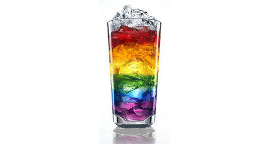 rainbow drink 60 Visionary Examples of Creative Photography