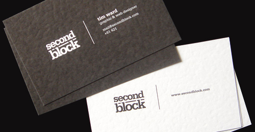 sb bc shot fowirx 100 Refreshing Black & White Business Cards
