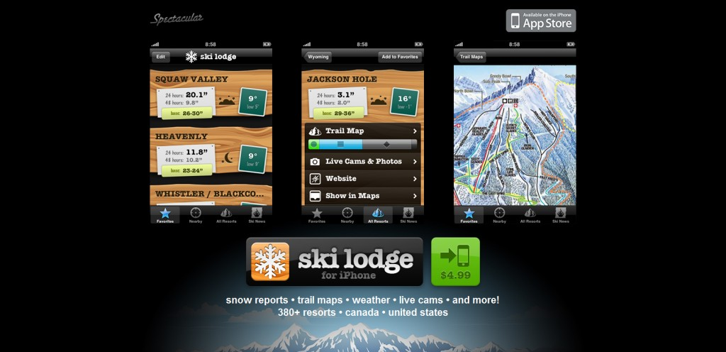 skilodgeapp 1024x496 100 Wonderfully Designed iPhone App Websites