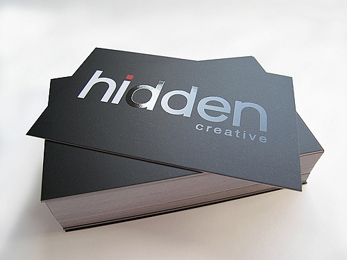 spot varnish business cards hidden creative 100 Refreshing Black & White Business Cards