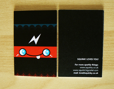 squink 100 Refreshing Black & White Business Cards