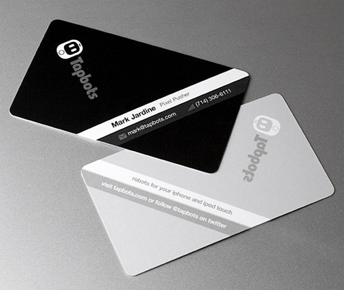tapbots 100 Refreshing Black & White Business Cards