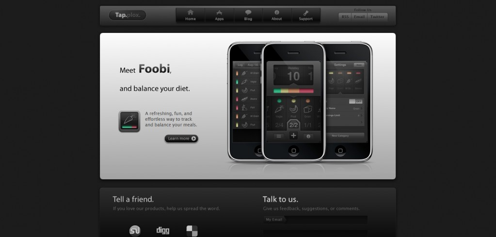 tapplox 1023x489 100 Wonderfully Designed iPhone App Websites
