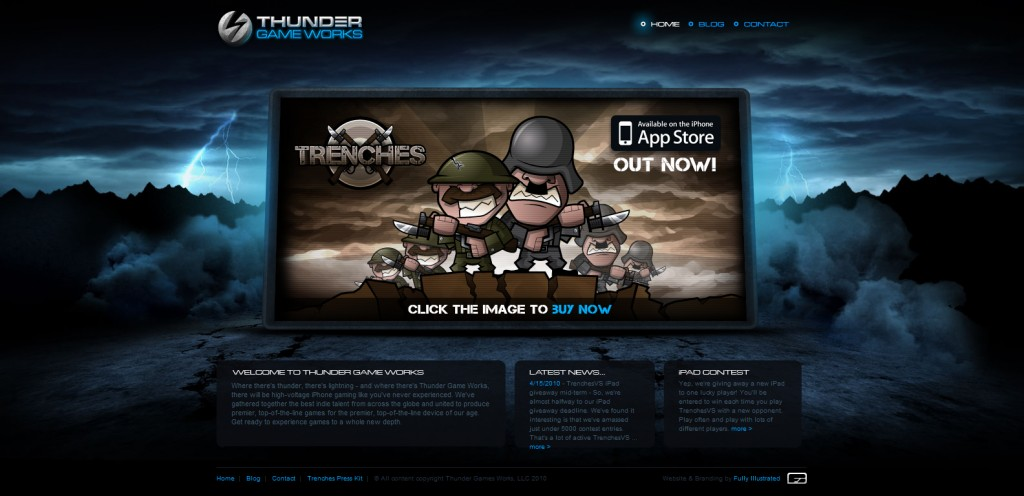 thundergameworks 1024x496 100 Wonderfully Designed iPhone App Websites