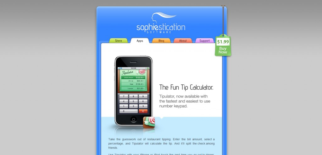 tipulator 1024x496 100 Wonderfully Designed iPhone App Websites