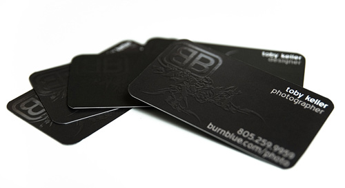 toby keller 100 Refreshing Black & White Business Cards