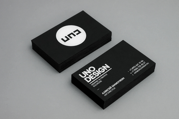 uno design simple business card design 100 Refreshing Black & White Business Cards