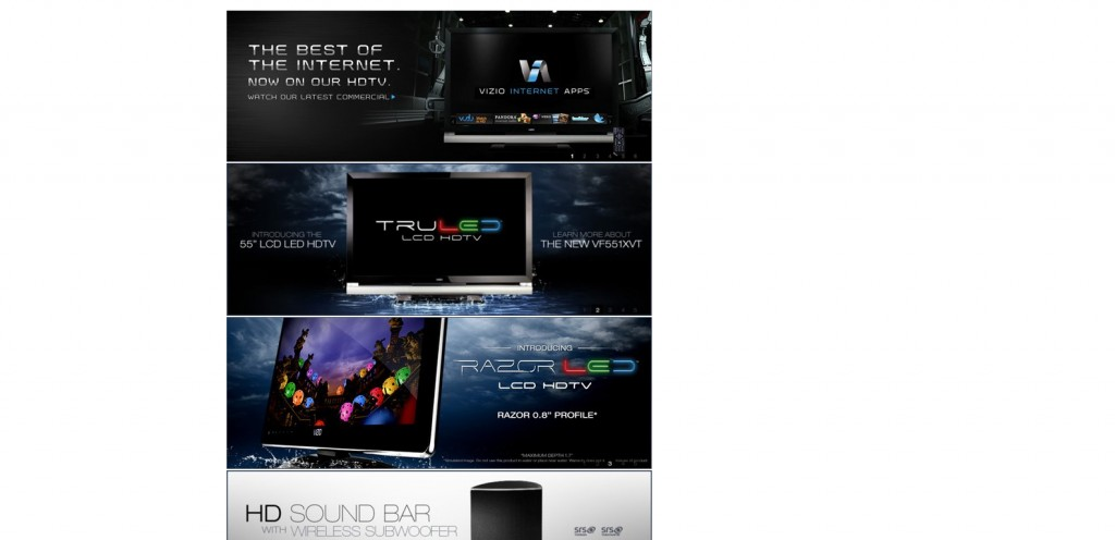vizio 1024x496 40 Great Examples of Facebook Fan Page Designs