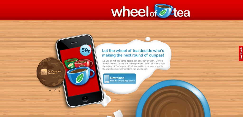 wheeloftea 1024x496 100 Wonderfully Designed iPhone App Websites
