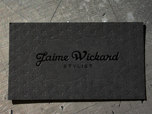 wickard 100 Refreshing Black & White Business Cards