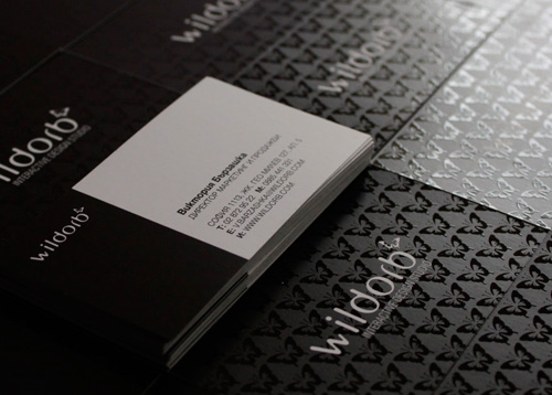 wildorb 2 100 Refreshing Black & White Business Cards